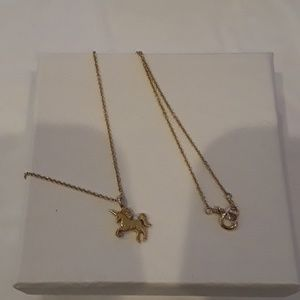 925 gold plated unicorn necklace.